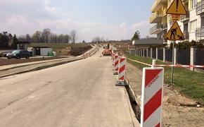 Roboty budowlane przy nowej drodze od ul. Strzelniczej do Potokowej