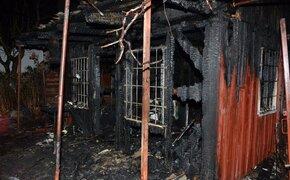 Pożar w Rzeszowie. W zgliszczach spalonej altanki znaleziono zwęglone ciało