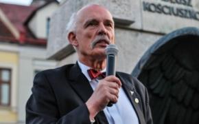 | FOTO/VIDEO: Korwin-Mikke przemawiał do wyborców na rzeszowskim Rynku