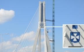 | FOTO. Kolorowy herb Rzeszowa ozdobił Most Mazowieckiego