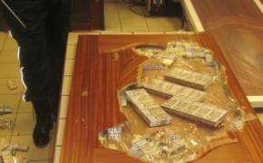 Służba Celno-Skarbowa odnalazła papierosy w skrzydłach drzwiowych