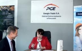 Jedna z rzeszowskich szkół podpisała umowę z Elektrociepłownią PGE przy ul. Ciepłowniczej