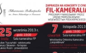 | Fil-Kameralia, nowy cykl koncertów w Filharmonii
