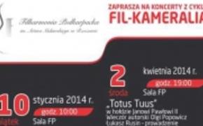 | Filharmonia Podkarpacka zaprasza na koncert z cyklu Fil-Kameralia