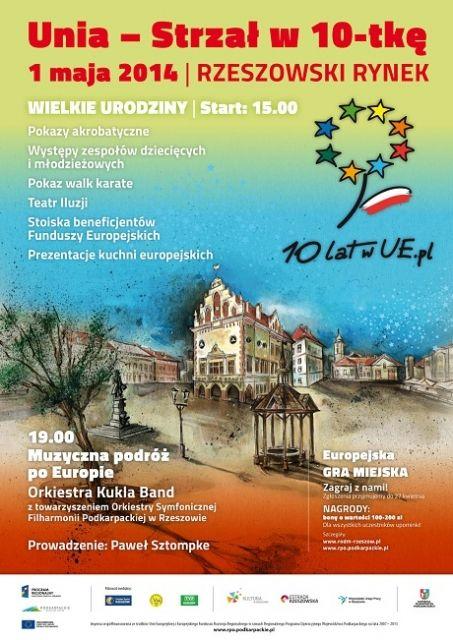 Aktualności Rzeszów | Impreza na Rynku z okazji 10-lecia wejścia do Unii