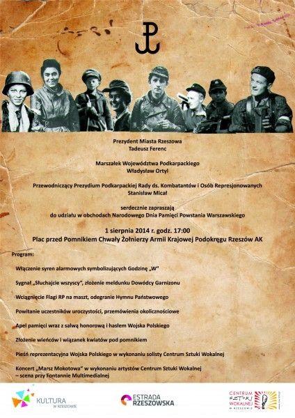 Aktualności Rzeszów | Narodowy Dzień Pamięci Powstania Warszawskiego w Rzeszowie