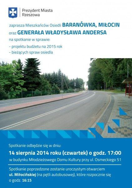 Aktualności Rzeszów | Otwarcie ul. Miłocińskiej i spotkanie z prezydentem