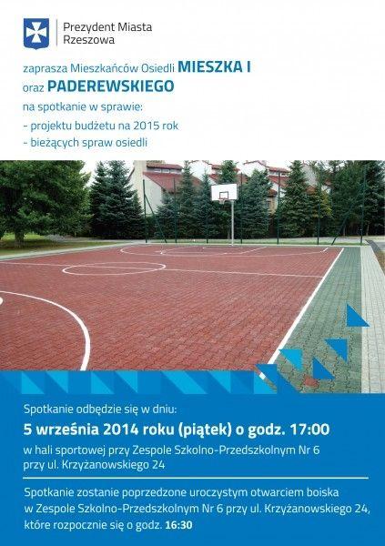 Aktualności Rzeszów | Dziś spotkanie prezydenta z mieszkańcami osiedli Mieszka i Paderewskiego