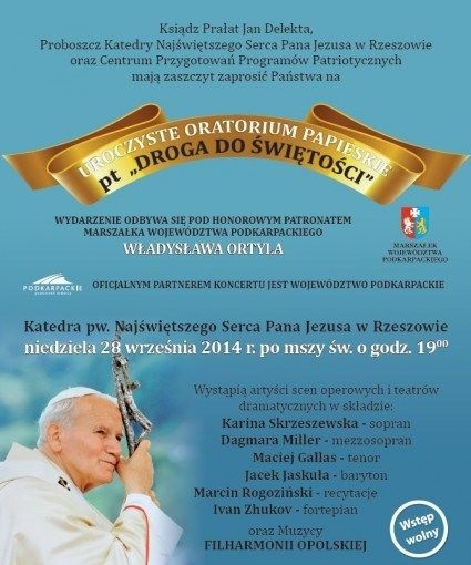 Aktualności Rzeszów | Uroczyste Oratorium papieskie