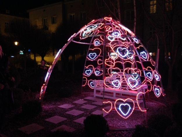 Aktualności Rzeszów | Walentynkowa iluminacja w centrum Rzeszowa