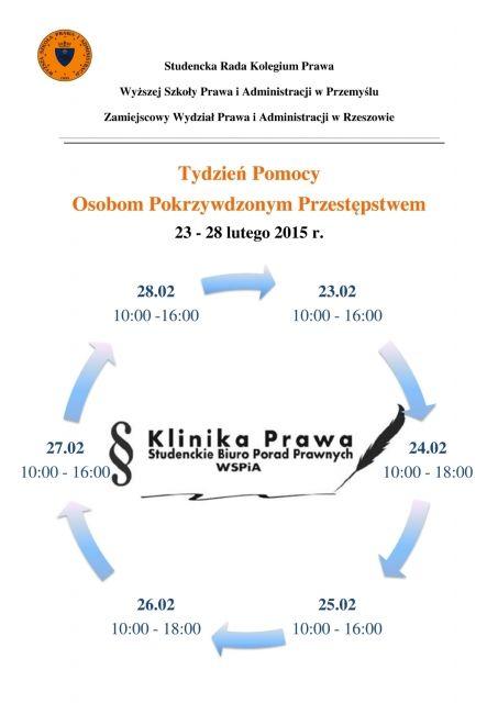 Aktualności Rzeszów | Darmowe konsultacje i porady prawne. Rozpoczyna się Tydzień pomocy ofiarom przestępstw