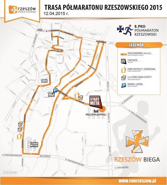 Aktualności Rzeszów | Półmaraton Rzeszowski. Trasa biegów i dokładny program