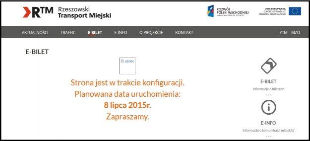 Aktualności Rzeszów | O e-bilecie ze strony RTM nie dowiesz się niczego. Wciąż nie działa zakładka