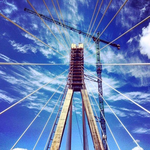 Aktualności Rzeszów | Błyskawiczne tempo budowy największej przeprawy w regionie. Zobacz zdjęcia  mostu im. Mazowieckiego