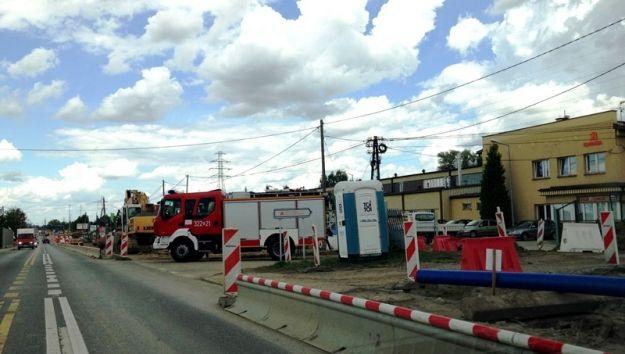 Aktualności Rzeszów | Koparka uszkodziła gazociąg na ul. Sikorskiego. Nie ma już utrudnień