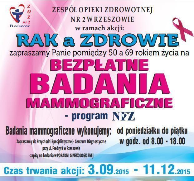 Aktualności Rzeszów | Darmowe badania dla kobiet