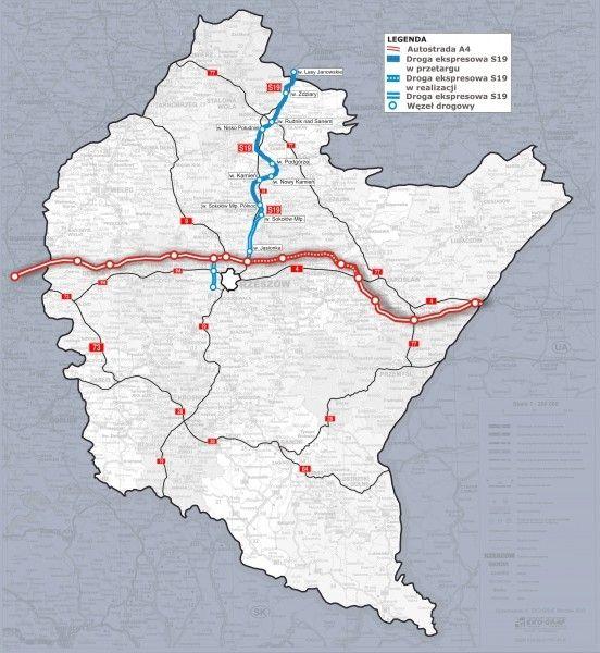 Aktualności Rzeszów | Ogłoszono przetargi na zaprojektowanie i budowę S19 do Sokołowa Małopolskiego