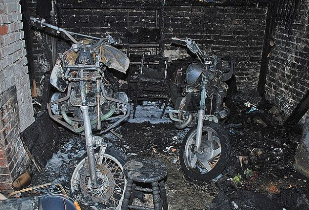 Aktualności Podkarpacie | Motocykle spłonęły w garażu