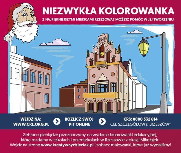 Aktualności Rzeszów | Chcą stworzyć kolorowankę z najpiękniejszymi miejscami Rzeszowa