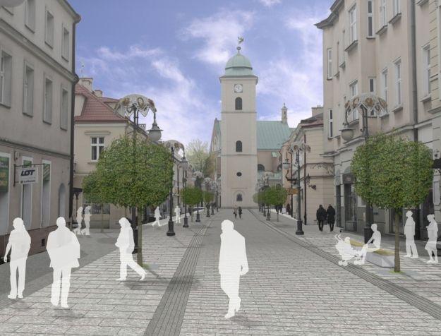 Aktualności Rzeszów | Przebudowa deptaków jesienią tego roku. Jak będą wyglądały reprezentacyjne uliczki? WIZUALIZACJE
