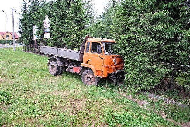 Aktualności Podkarpacie | Ciężarówka bez kierowcy jechała przez rondo