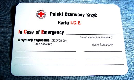 Aktualności Podkarpacie | Na urlop zabierz kartę ICE