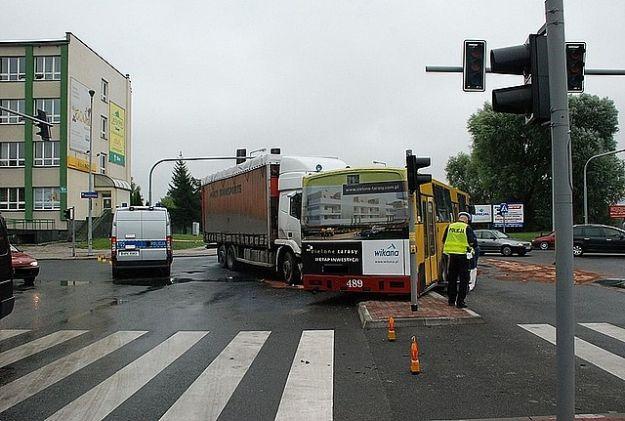 Aktualności Rzeszów | Zderzenie ciężarówki z autobusem MPK