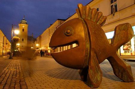 Aktualności Rzeszów | Optymistyczne ryby na rzeszowskim Rynku