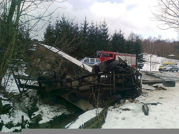 Aktualności Podkarpacie | W Lutczy ciężarówka wpadła do rowu
