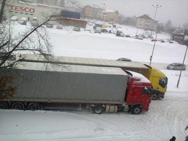 Aktualności Rzeszów | Tiry zablokowały Okulickiego