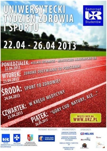 Aktualności Rzeszów | Trwa Uniwersytecki tydzień zdrowia i sportu