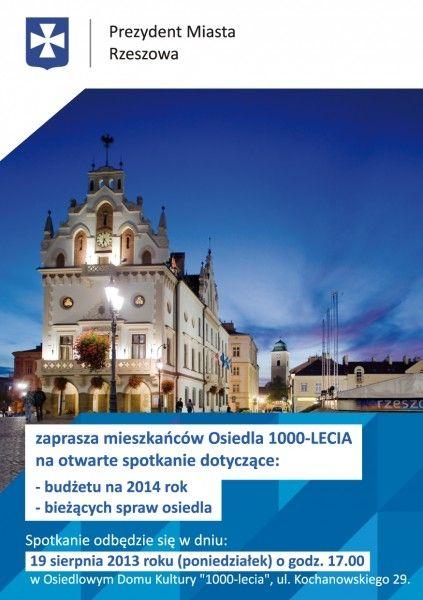 Aktualności Rzeszów | Prezydent Rzeszowa spotka się z mieszkańcami os. Pułaskiego