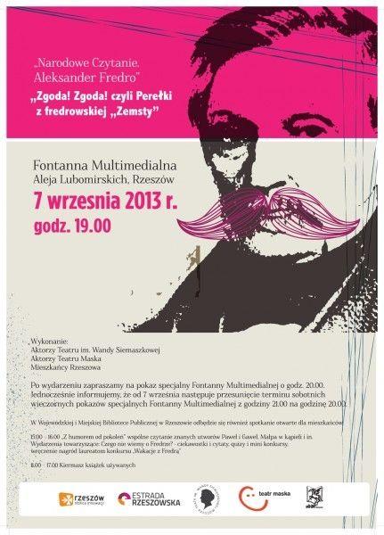 Aktualności Rzeszów | Narodowe Czytanie Fredry w ta sobotę