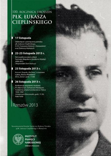 Aktualności Rzeszów | W niedzielę odsłonięcie pomnika Cieplińskiego