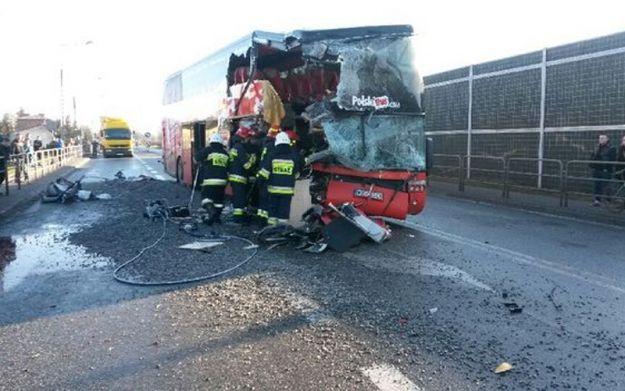 Aktualności Podkarpacie | Wypadek autobusu w Jadownikach. 14 osób w szpitalu
