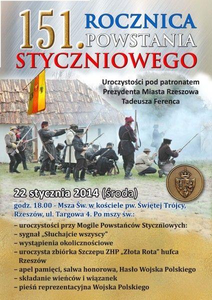 Aktualności Rzeszów | Uroczystości z okazji 151. Rocznicy Powstania Styczniowego