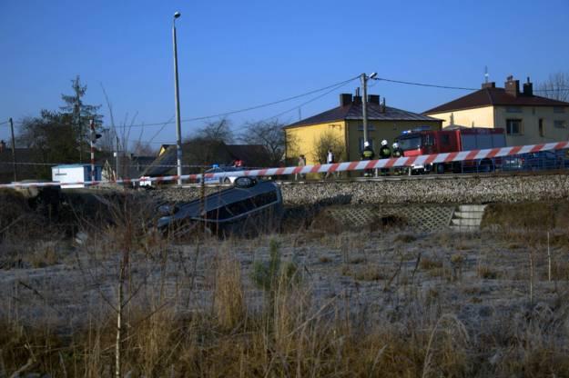 Aktualności Podkarpacie | Zderzenie pociągu z samochodem (Zdjęcia z wypadku)