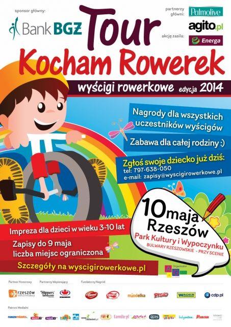 Tour Kocham Rowerek – Wyścigi rowerkowe w Rzeszowie - Aktualności Rzeszów