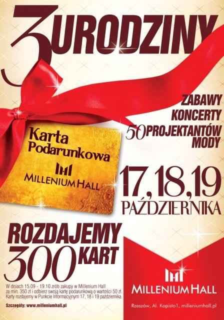Zbliżają się 3 urodziny Millenium Hall - Aktualności Rzeszów