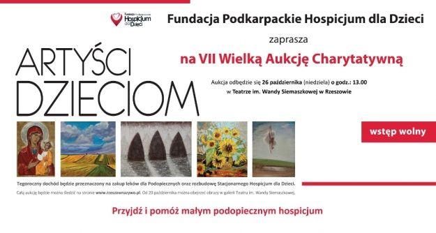 Aukcja obrazów na rzecz chorych dzieci - Aktualności Rzeszów