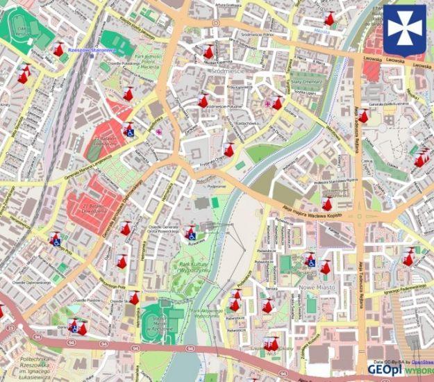 Interaktywna Mapa Wyborcza Rzeszowa - Aktualności Rzeszów