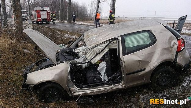 Śmiertelny wypadek w Lubaczowie. Golfem uderzyła w drzewo - Aktualności Podkarpacie