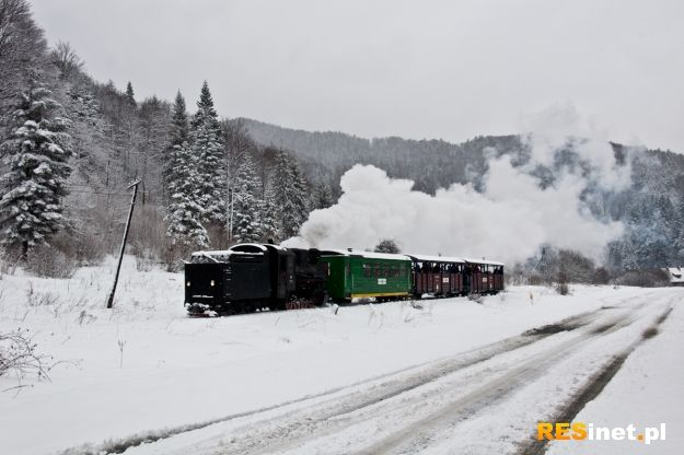FOTO/VIDEO. Zimowa przejażdżka bieszczadzką ciuchcią tylko do 28 lutego - Aktualności Podkarpacie