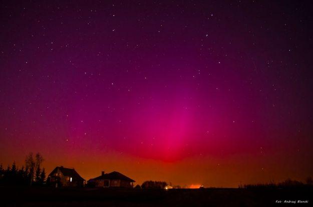 FOTO. Zobaczcie niesamowite zdjęcia zorzy polarnej w okolicy Rzeszowa - Aktualności Rzeszów