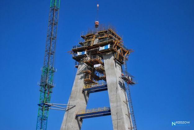 FOTO. Najnowsze zdjęcia z budowy Mostu Mazowieckiego - Aktualności Rzeszów