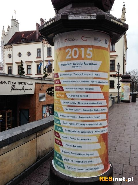 W centrum Rzeszowa wreszcie zamontują obrotowe słupy ogłoszeniowe - Aktualności Rzeszów