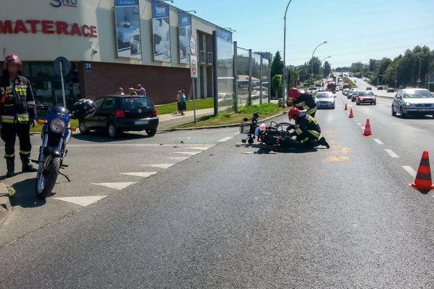 2 wypadki z udziałem motocyklistów na ulicach Rzeszowa - Aktualności Rzeszów