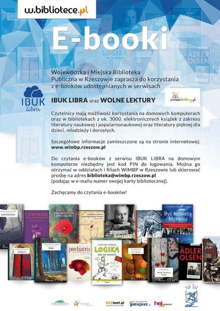 Bezpłatne e-booki w katalogach WiMBP - Aktualności Rzeszów
