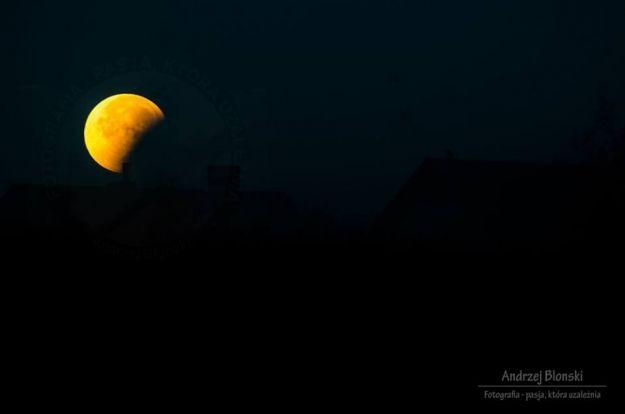 FOTO. Czerwony Księżyc pod Rzeszowem. Zdjęcia z całkowitego zaćmienia - Aktualności Rzeszów