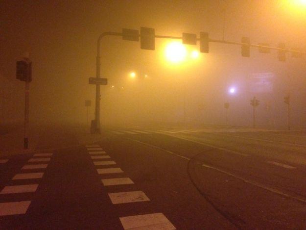 UWAGA! W nocy i rano silna mgła. Ograniczona widzialność - Aktualności Podkarpacie